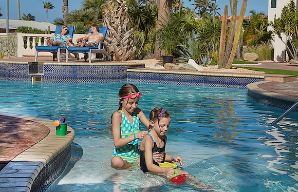 Pool at our Family Friendly Resort in Aruba